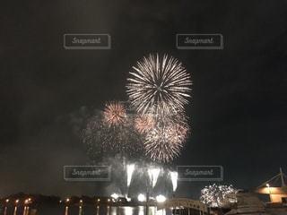 海上に打ち上がる花火の写真・画像素材[1322856]