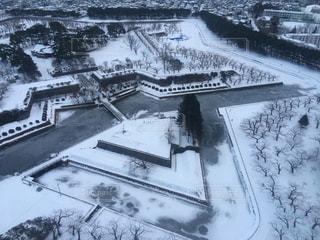 冬の五稜郭の写真・画像素材[1672566]