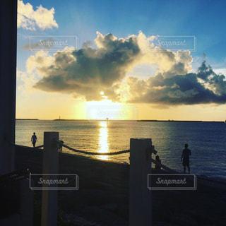 海,夕日,沖縄,黄昏