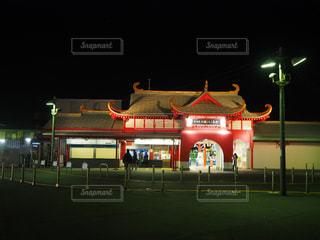 江の島駅夜ライトアップの写真・画像素材[1690702]