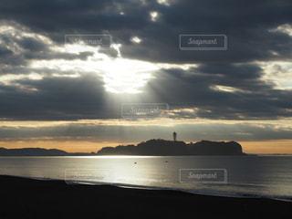 江の島の初日の出の写真・画像素材[1860833]