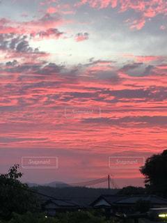 自然,海,空,屋外,夕焼け,夕陽,ピンク色