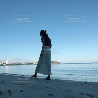 海,夏,朝日,晴れ,海辺,散歩,旅行,写真,風,ハワイ,グアム,被写体,いい天気,他撮り