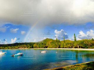 離島の虹の写真・画像素材[1194917]