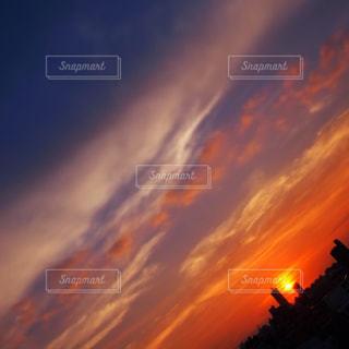 自然,空,建物,夕日,太陽,夕方,屋上,夕陽,sunset,名古屋