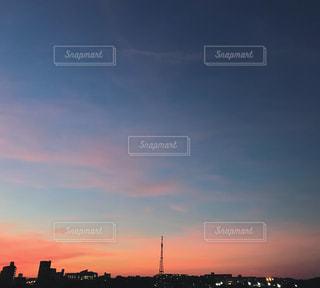 空,屋外,夕焼け,夕方,夕陽