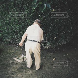いつものおじいちゃんの写真・画像素材[1450550]