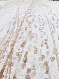 雪,白,足跡,道,歩道,地面,ホワイト
