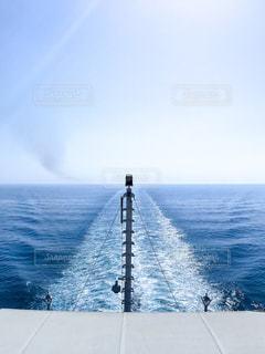 クルーズ船の航跡の写真・画像素材[1248417]