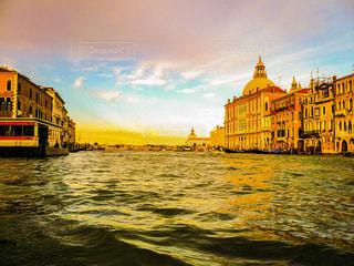 夕焼け,水面,旅行,イタリア,ベネチア,ヴェネチア,サンセット,海外旅行,ヴェネツィア,運河,ベネツィア,大運河,グランカナル,グラン・カナル