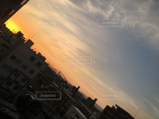 自然,空,カメラ,夕日,屋外,夕焼け,夕方,フォトジェニック