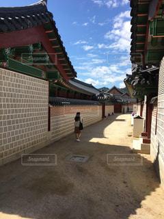 屋外,海外,観光地,韓国,通り,ソウル,景福宮
