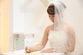 ウェディング ドレスを着た女性の写真・画像素材[1246282]