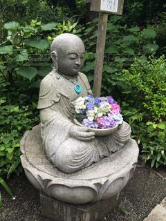 あじさい,紫陽花,鎌倉,お地蔵様