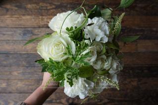 白い花束の写真・画像素材[1212390]