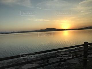 空,夕日,夕方,オレンジ,外,夕陽,宍道湖