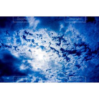 空の雲のクローズアップの写真・画像素材[2424694]