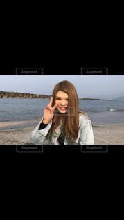 ビーチのギャルの写真・画像素材[1268017]