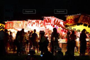 昔ながらの祭り風景の写真・画像素材[1428928]