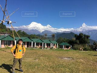 ネパール アンナプルナ連峰の写真・画像素材[1210284]