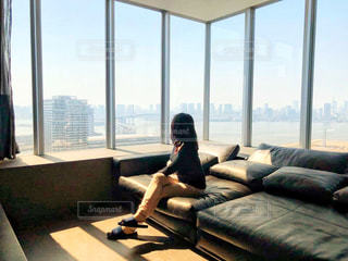 お部屋,屋内,部屋,室内,窓,景色,家具,のんびり,タワーマンション