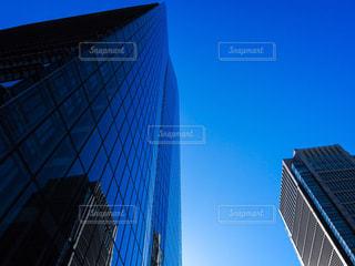 空,建物,青,タワー,高層ビル,秋空