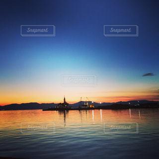風景,海,空,屋外,夕暮れ,水面,釣り,sunset,Sky,漁港,デート,fishing