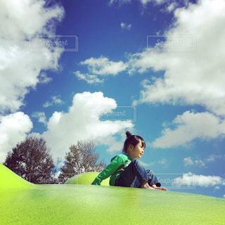 風景,空,秋,雲,日常,子供,遊具,秋晴れ,秋空