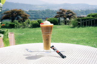 旅先で作るコーヒーフロートの写真・画像素材[1308136]