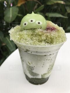 リトルグリーンメンのかき氷の写真・画像素材[1355536]