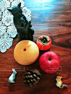 秋,動物,フルーツ,果物,梨,りんご,テーブルフォト,柿,食欲,秋の味覚,秋の味