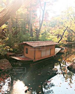秋の日本庭園の写真・画像素材[1633919]