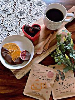 コーヒー,オレンジ,チョコレート,バレンタイン,テーブルフォト,ブレイクタイム,バレンタインデー,柑橘類,手作りチョコレート
