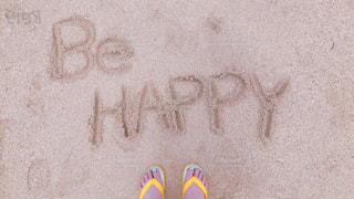 砂浜の上のメッセージの写真・画像素材[1800451]