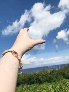 雲を掴みたい!の写真・画像素材[2798323]