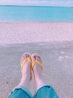 ビーチでひと休みの写真・画像素材[3461812]