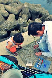 父と釣りの思い出の写真・画像素材[1246569]