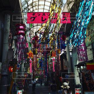 商店街の七夕祭りの写真・画像素材[1286768]