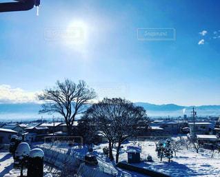 雪,白,晴れ,青空,山,長野,信州,朝から