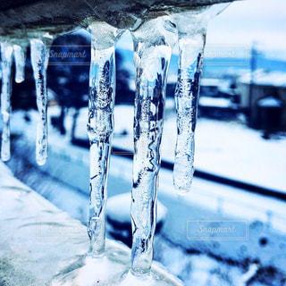 冬,雪,白,山,氷,寒い,長野,信州,つらら,氷柱