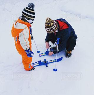 冬,雪,白,雪山,子供,スキー,練習,スキー場,ホワイト