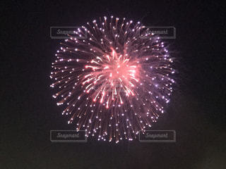 夜空の花火の写真・画像素材[1217966]