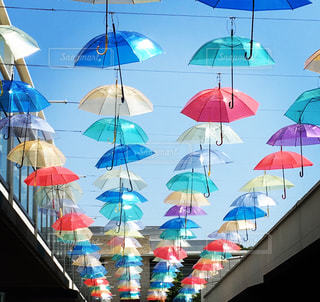 空,傘,かわいい,カラフル,景色,梅雨