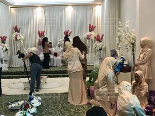 屋内,結婚式,旅行,未来,マレーシア,モスク,新郎,新婦,夢,クアラルンプール,ポジティブ,目標,ブルーモスク,ウェディング,可能性,シャーアラム,ビジャブ,新婦の母