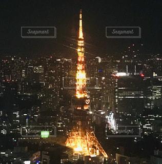 東京タワーの夜景の写真・画像素材[1684002]