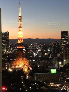 東京タワーの夜景の写真・画像素材[1689097]