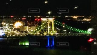 夜の街の景色の写真・画像素材[1689116]