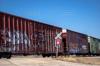 アメリカの貨物列車の写真・画像素材[1259733]