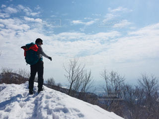 自然,雪,緑,青空,雪山,登山,トレーニング