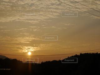 空,田舎,電線,夕陽,鹿児島,あかね色,あかね空